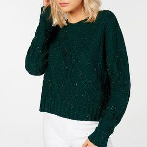 Ultra Flirt Juniors Cable Knit Sweater